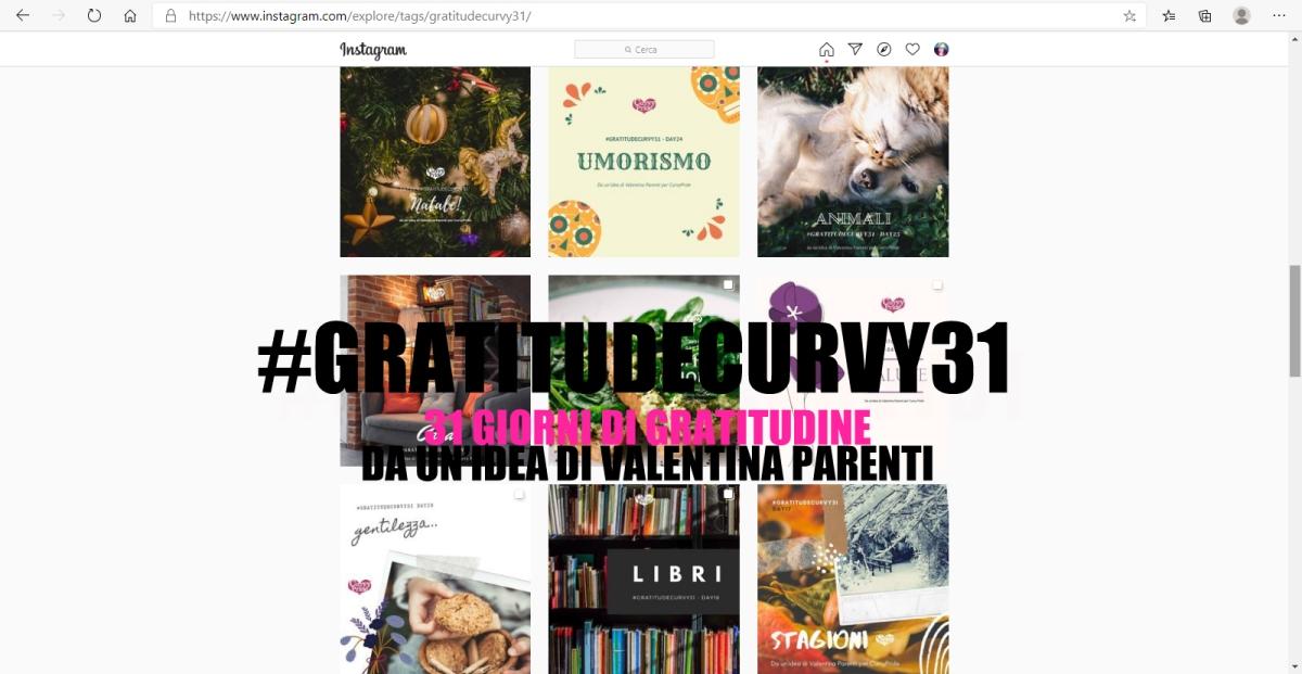 #GratitudeCurvy31 e il Diario dellaGratitudine